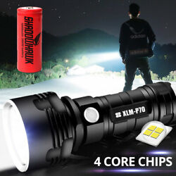 Shadowhawk Super bright 80000lm Flashlight LED P70 Tactical Torch battery $18.99