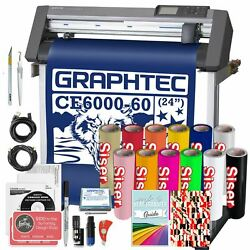 Graphtec PLUS CE6000-60 24 Inch Vinyl Cutter Software & Siser HTV