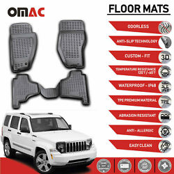 Floor Mats Liner 3D Molded Black 4 Pcs Fits Jeep Liberty 2008 2012 $59.42