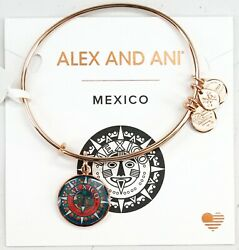 New Alex And Ani 2019 Mexico Exclusive Rose Gold Adjustable Bangle Bracelet