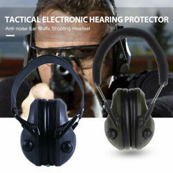 US Tactical Electronic Ear Muffs Protection Noise Canceling for Shooting Hunting