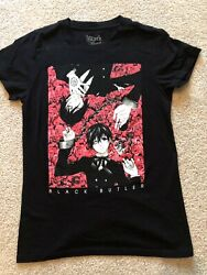 Official Black Butler Ciel and Sebastian T-Shirt Small Gently Used