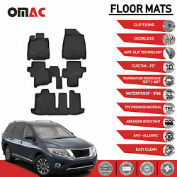 Floor Mats Liner 3D Molded Black Fits Nissan Pathfinder 2014 2020 $67.92