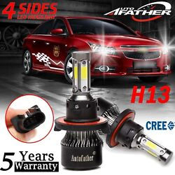 4Side H13 9008 LED Headlight Kit 2000W Hilow Beam Bulbs for Chevy Cruze 11-2017