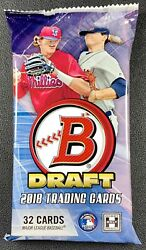 2018 BOWMAN DRAFT CHROME JUMBO BASEBALL HOBBY PACK (1) BRAND NEW FACTORY SEALED