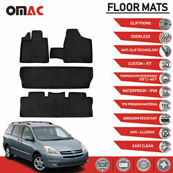 Floor Mats Liner 3D Molded Fits Set for Toyota Sienna 2003 2010 $79.90