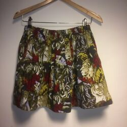 Maje Mini Skirt Exotic Lively Print (Very Rare) Waist Band One Size Fits All