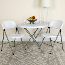 2 Pack Commercial White Plastic Event Party Rental Folding Chair