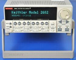 Keithley 2602 SYSTEM Sourcemeter SMU Dual Channel 40V 3A 40W - NIST Calibrated