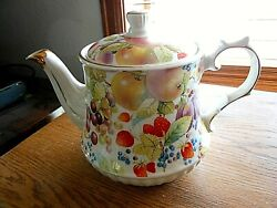 Vintage Rare Windsor quot;All Over Fruitquot; Teapot Made in England $20.00