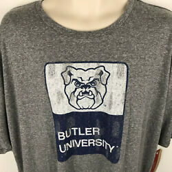 Butler Bulldogs Womens T-Shirt Screen Printed XX-Large Victory Gray University