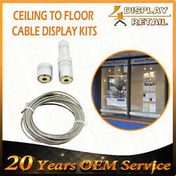 Ceiling to Floor Cable Fixing Wire Steel Rope Kits Real Estate Agent Display Alu AU $7.95