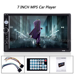 7 Inch Double 2 Din Car MP5 MP3 Player BT Stereo FM Radio USB TF Touch Screen $39.49