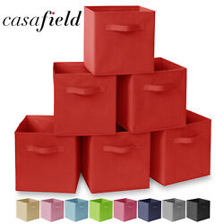 6 Collapsible Foldable Cloth Fabric Cubby Cube Storage Bins Baskets for Shelves $19.99
