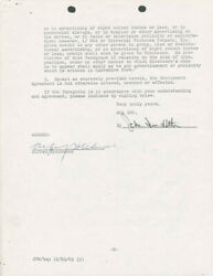 ALFRED HITCHCOCK - CONTRACT SIGNED 12071965