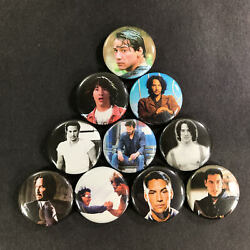 Keanu Reeves 1quot; Button Pin Set Speed Matrix John Wick Bill and Ted Point Break $6.99