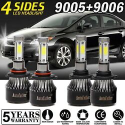 9005 9006 Combo LED Headlight 1900W for Honda Civic 04-2013 Odyssey 2005-2010