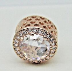 NEW Authentic PANDORA Rose Gold Clear CZ Radiant Hearts Charm 781725CZ