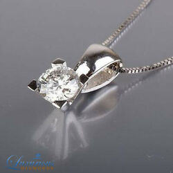Brilliant Cut Enhanced Diamond Pendant Chain Set 1.65 Carat 18K White Gold