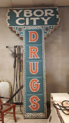Ybor City Drugs Marque Sign 10' Double Sided Lights Up from Movie Live By Night