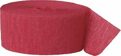 Crepe Paper Red Party Streamers 81ft $4.91