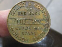 Vintage THE WEATHERHEAD CO. Round & Round She Goes….. TOKEN - SPINNER