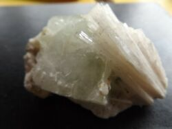 Large Apophylite Crystal With Scolecite Crystals Deccan Plateau India $20.00
