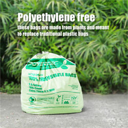 100pc 3 Gallon Capacity Green Compost Bags Eco Friendly Trash Bag Biodegradable $19.99