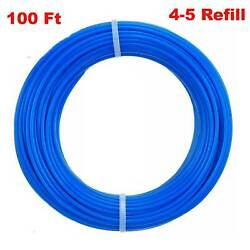 """100 ft Blue Round Cut Nylon Trimmer Line .065"""" -Commercial Grade -Made in USA $8.79"""