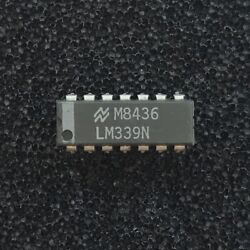 (PKG of 10) LM339N Quad Differential Comparator PDIP-14 National