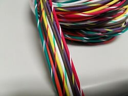 14 AWG GXL HIGHTEMP AUTOMOTIVE POWER WIRE 8 STRIPED COLORS 10 FT EA