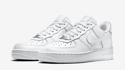 New Wmns Sz 5-12 Nike Air Force One 1 Low Top Triple White 315115 112 Womens