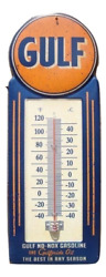 LARGE 15 GULF NO NOX Gasoline and Oil Vintage Style Thermometer Sign Gas Service $35.67