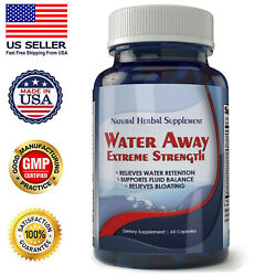 Diuretic Water Away Pills 700mg Weight Loss Natural Blend of Minerals Supplement $12.95