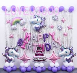 Unicorn Birthday party Supplies Unicorn Balloons Set Unicorn party Decorations $20.99