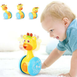 Baby Kids Rattles Tumbler Doll Toys Bell Music Learning Development Toy Gifts