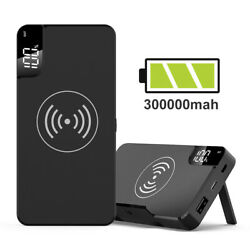 Qi Wireless Charging 300000mAh Power Bank Type-C Portable Battery Fast Charger $22.99