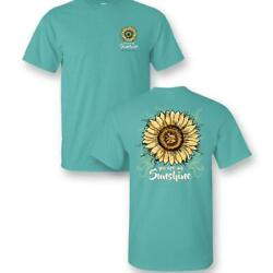 Sassy Frass You are My Sunshine Sunflower Comfort Colors Bright Girlie T Shirt $29.99