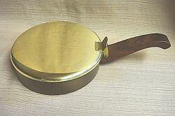BRASS SILENT BUTLER w WOODEN HANDLE