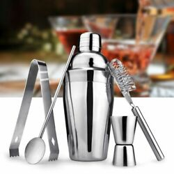 Bar Cocktail Shaker Set Kit Tools Mixer Drink Bartender Martini Stainless Steel $13.98