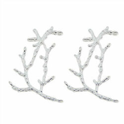 20 pcs Silver Tone Zinc Alloy Tree Branch Charms Necklace Pendant Findings 51959 $4.69