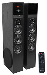 Tower Speaker Home Theater System w Sub For Samsung NU6900 Television TV Black $279.95