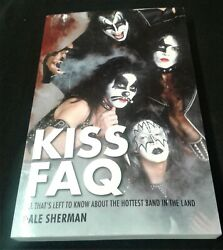 KISS FAQ  All That's Left to Know .... Dale Sherman SIGNED copy Rock music band