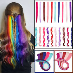 Hair Long Straight Extensions Clip Hairpiece Highlight Piece Gradient Colors J32