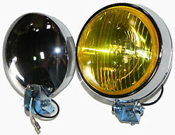 VW Vintage Parts Fog LightYellowPair 4quot; Curve lens Pair $53.99