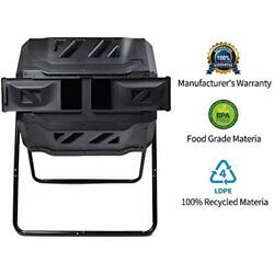 Composting Tumbler Dual Rotating Outdoor Garden Bin Easy Turn Enough Duty $158.99