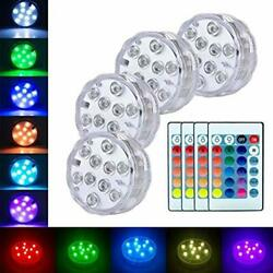 Submersible Led Lights Battery Operated Spot Remote Small Lamps Decorative Fish $26.99