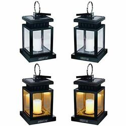 Hanging Solar Lanterns Lights Outdoor Umbrella Waterproof Candle Lamps On Trees $45.94
