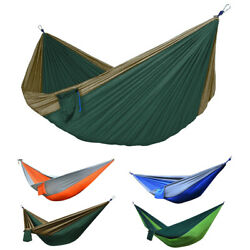 Portable Double 2 Person Nylon Parachute Outdoor Camping Hammock Hanging Swing $16.96