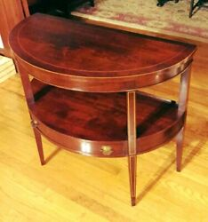 Lovely Antique Flame Mahogany Entrance Table